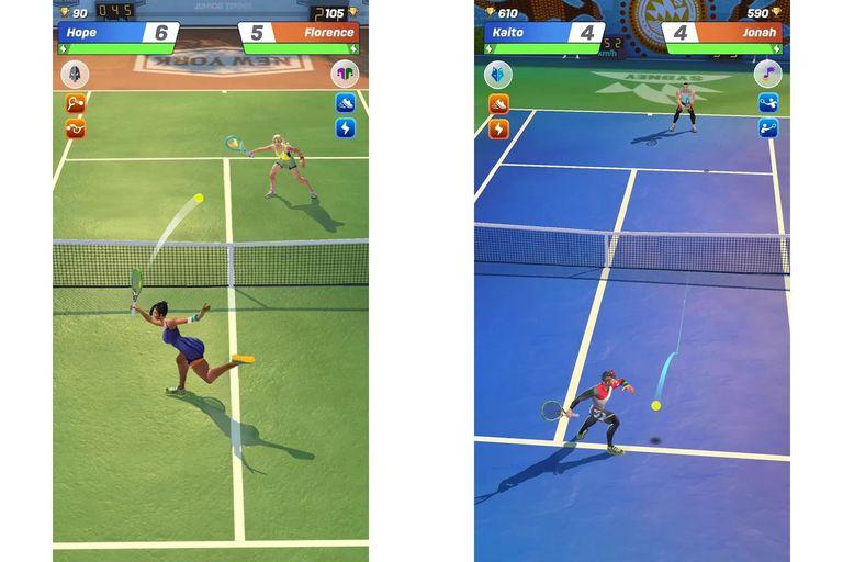 Una vista de Tennis Clash