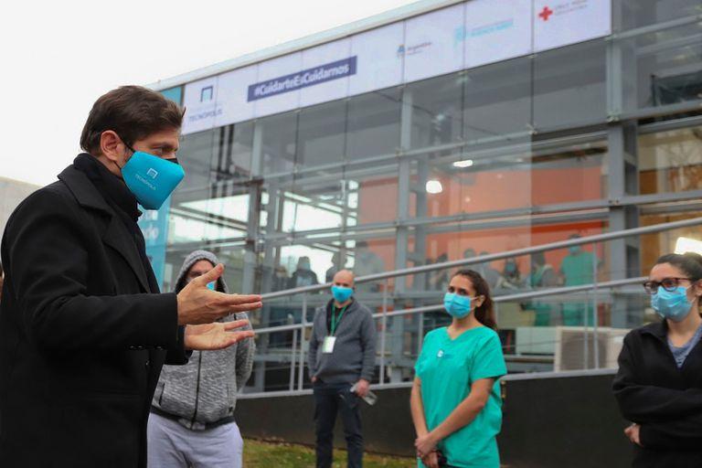 """El Gobernador Axel Kicillof presentó en Tecnópolis el programa """"Acompañar"""", destinado a la asistencia de pacientes leves de COVID-19."""