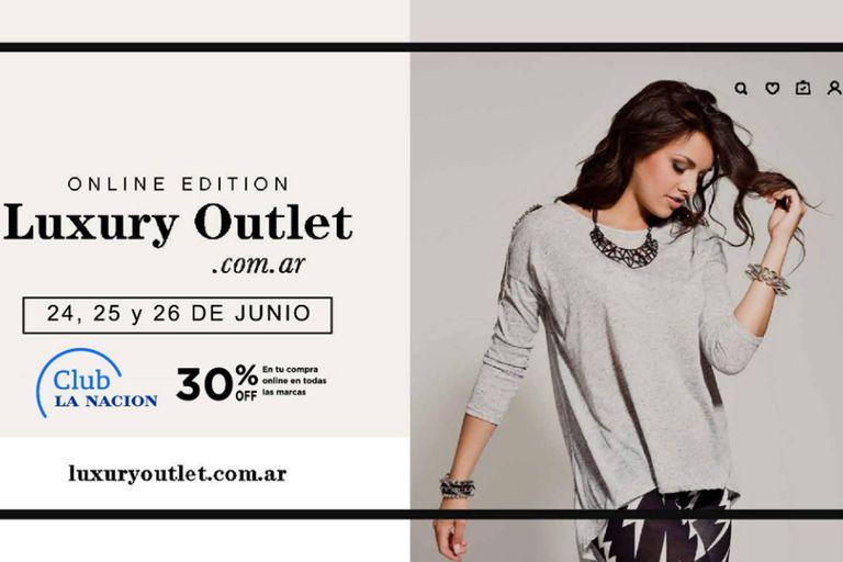 En total 26 marcas están participando de la primera Online Edition del Luxury Outlet, que ofrece un descuento del 30% en la compra de indumentaria