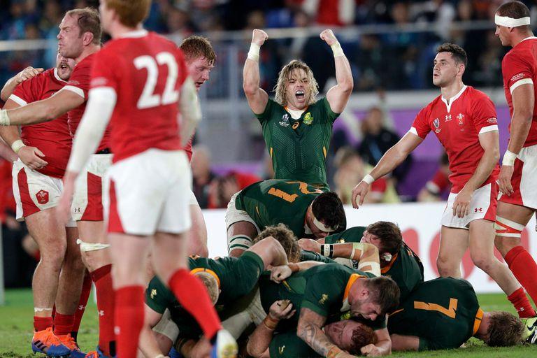 Mundial de rugby. Sudáfrica venció por 19-16 a Gales y está en la final