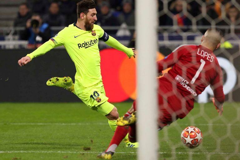 Esta vez, un arquero le ganó el duelo a Messi: fue Anthony Lopes, de Lyon.
