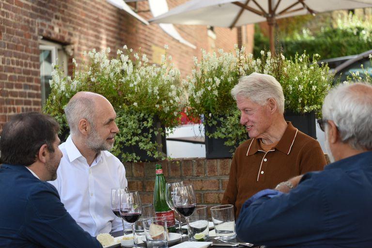Horacio Rodríguez Larreta almorzó con Bill Clinton