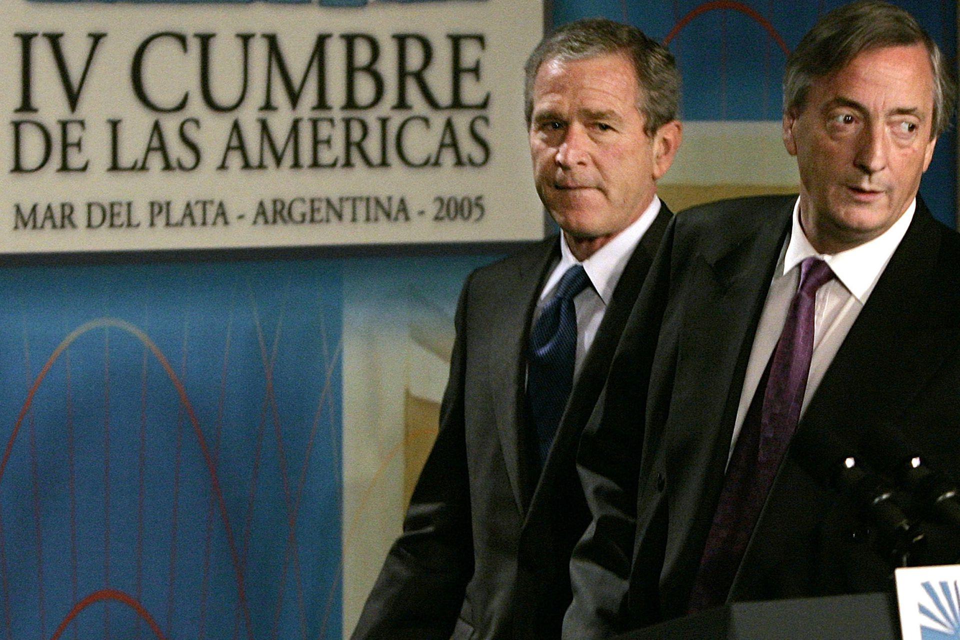 Néstor Kirchner and George Bush
