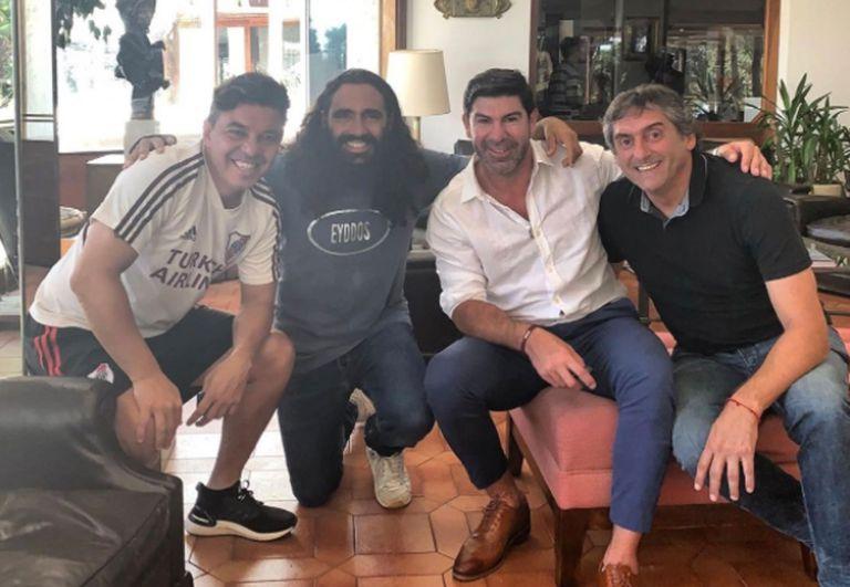 "Juan Pablo Sorín, junto a Marcelo Gallardo, Marcelo Salas y Enzo Francescoli, las ""leyendas"" de River"