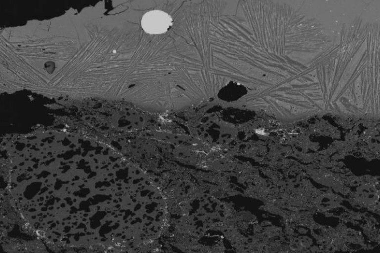 Aspecto microscópico del acero de cromo