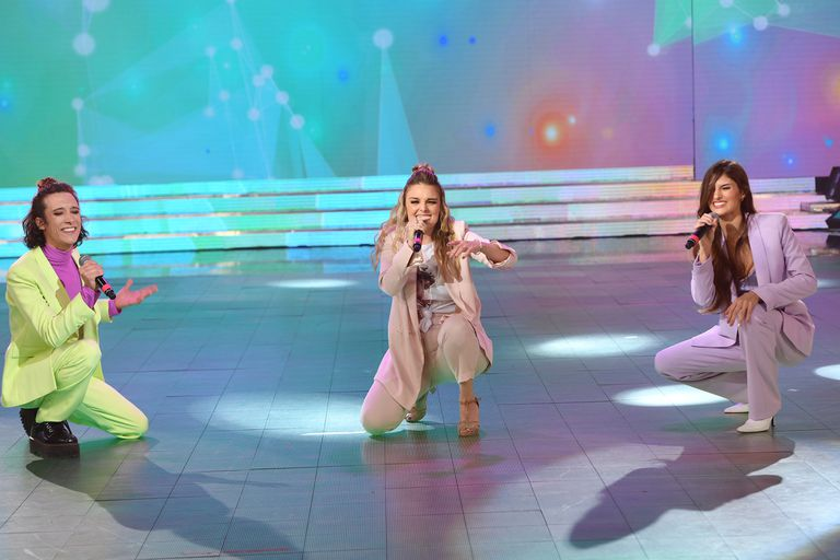 Cantando: Flor Otero logró que Lola Latorre y Lucas Spadafora no desafinaran