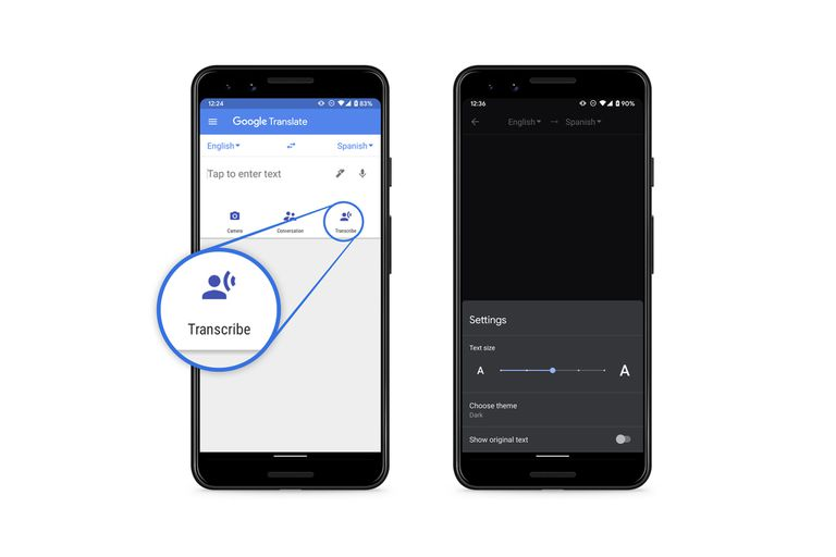 El servicio de Google ahora puede traducir y transcribir de forma inmediata en ocho idiomas