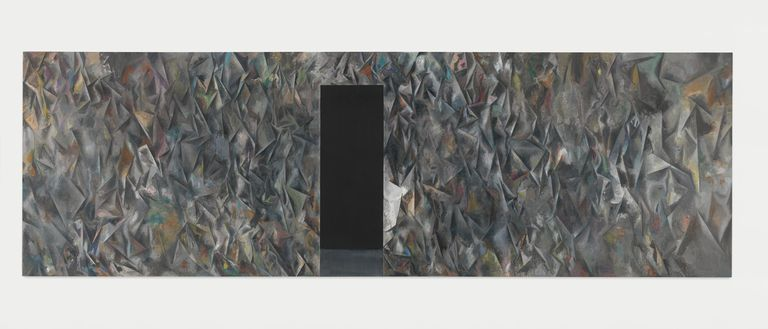 Exodus, 2015, óleo sobre tela. Colección privada © Guillermo Kuitca.