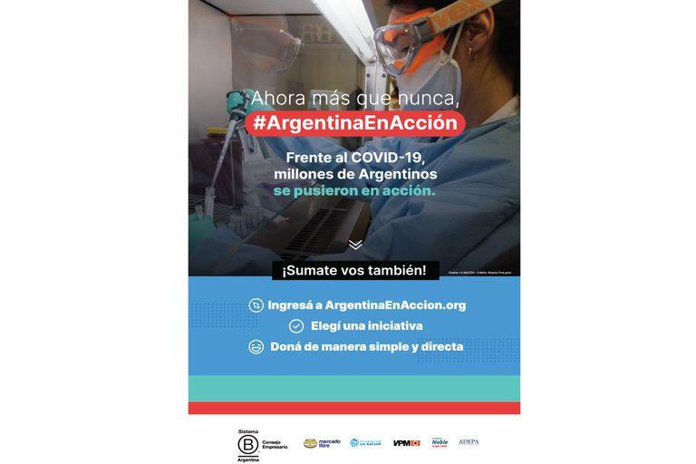 Argentinaenaccion.org, una plataforma solidaria para ayudar sin salir de casa