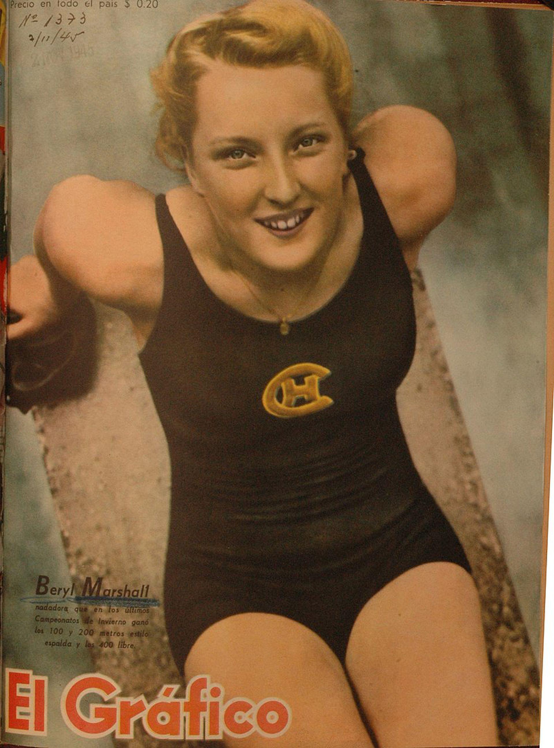 La nadadora Beryl Marshall fue la más buscada por la prensa extranjera.