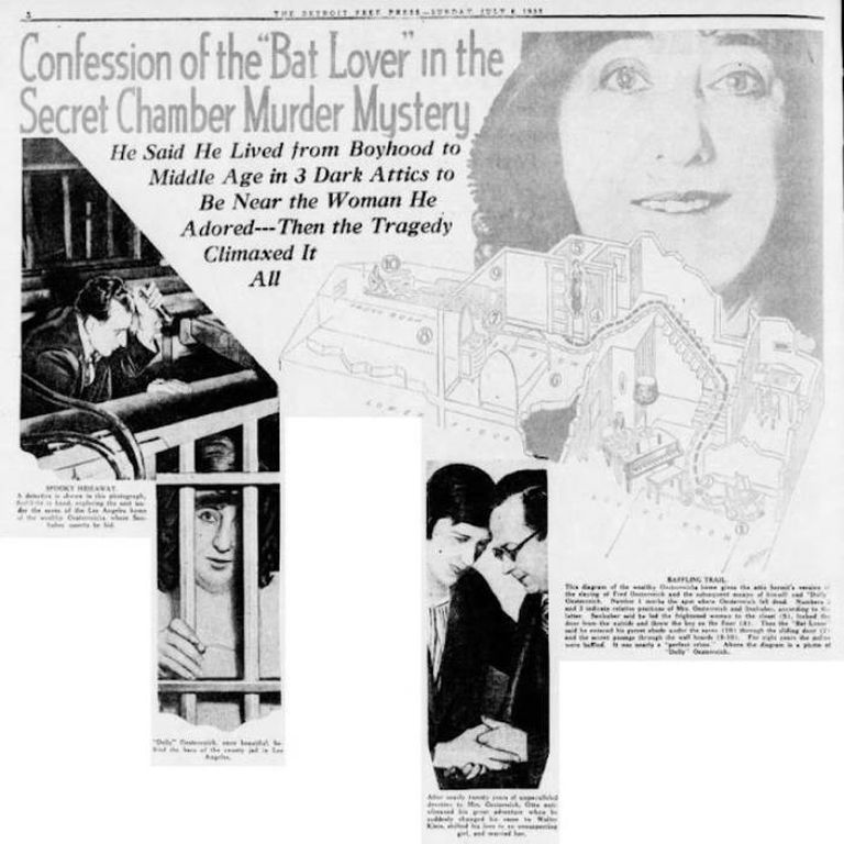 La cobertura de los medios del caso de la viudad de Oesterreich daba cuenta de que la historia tenía todos los condimentos como para mantener a los lectores en vilo