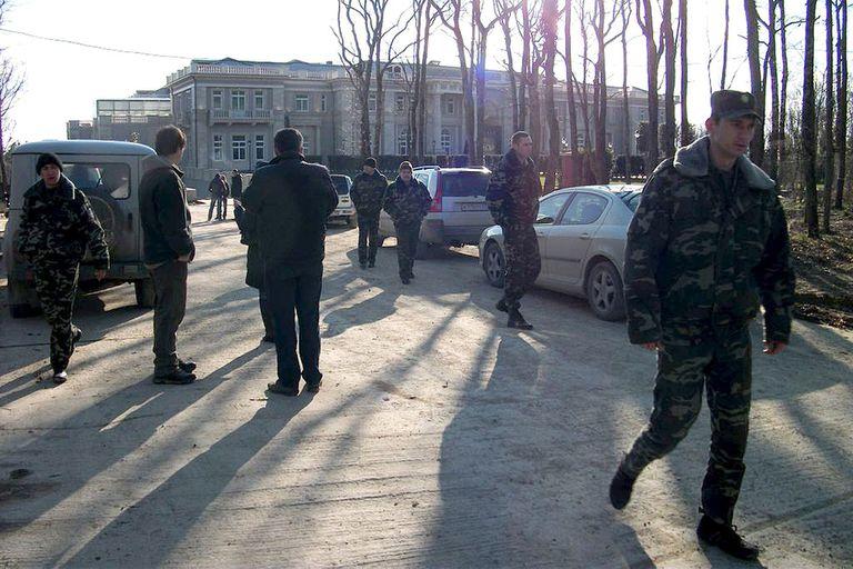 """La residencia en el cabo Idokopás, también conocida como el """"palacio de Putin"""". Foto de ecologista Dmitry Shevchenko en 2011"""