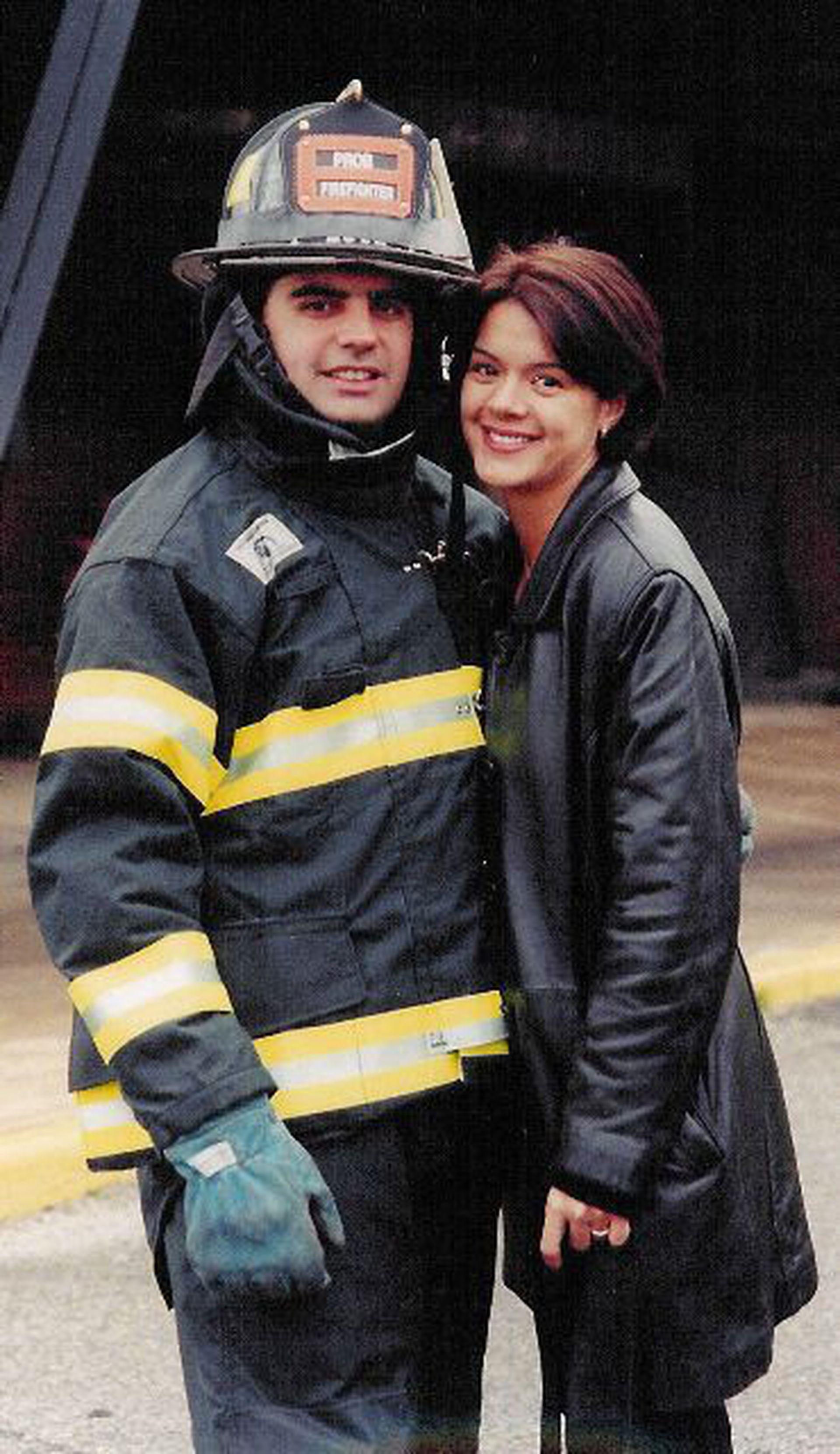 Sergio Villanueva y Tanya se habían comprometido en junio de 2001, después de siete años en pareja y seis de convivencia  (Gentileza: Tanya Villanueva Tepper)