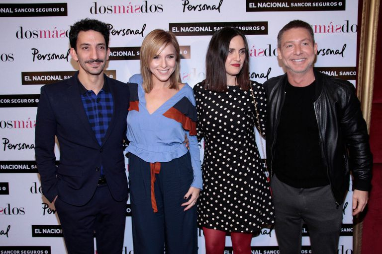 Felices, los cuatro protagonistas del film se reunieron para disfrutar de la version teatral