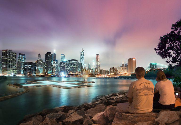 Nueva York: esta pileta flotante hará que sea posible bañarse en la ciudad