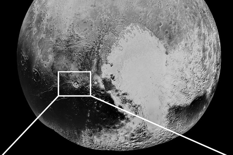 Detección de amoníaco en una zona del planeta Plutón