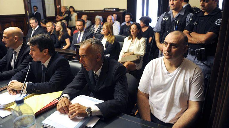 Jorge Mangeri durante el juicio tras el cual fue condenado en 2015