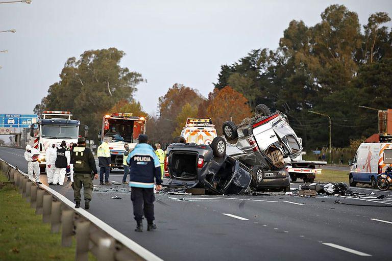 Choque fatal en Panamericana a la altura del kilómetro 72 en la mano hacia Capital Federal
