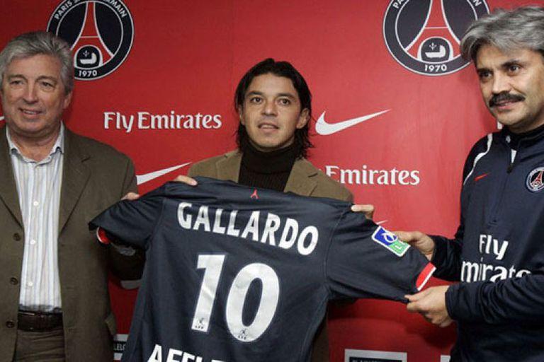 Gallardo, el día de su presentación en PSG