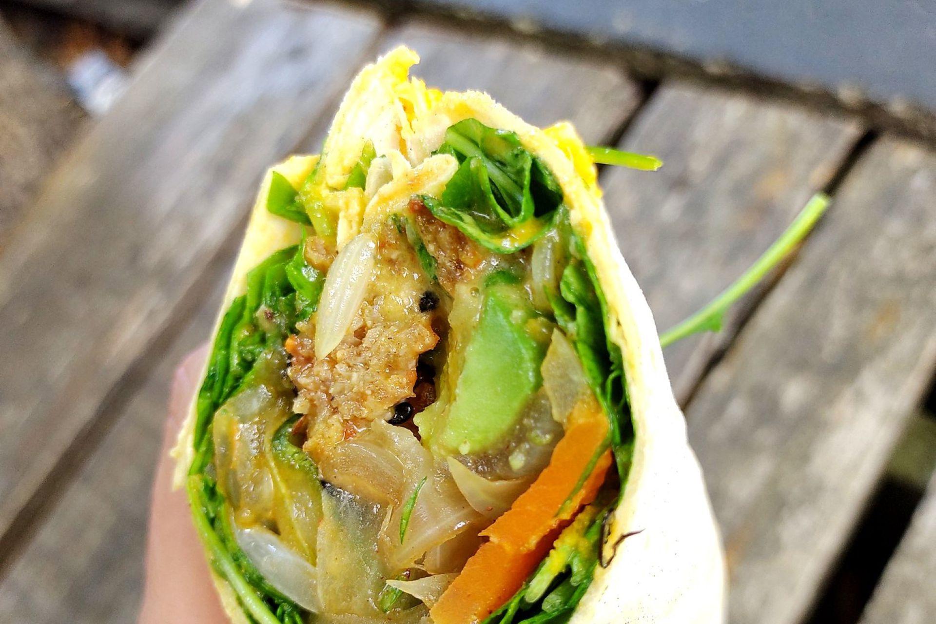 Rolls con verduras frescas