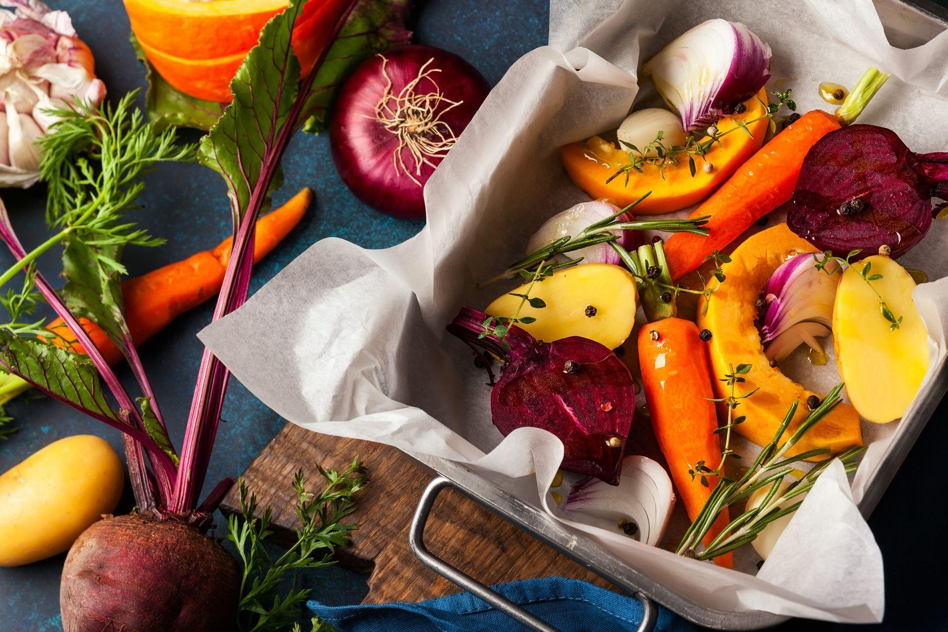 Verduras varias para una alimentación saludable