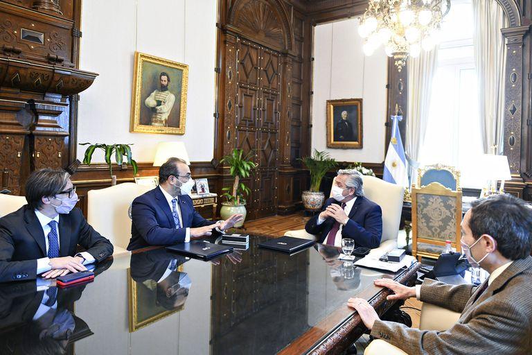 El presidente Alberto Fernández recibió al titular de la CAF