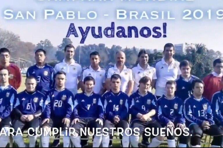 La federación argentina de deportes para discapacitados intelectuales pide dinero para viajar al mundo del Brasil 2019