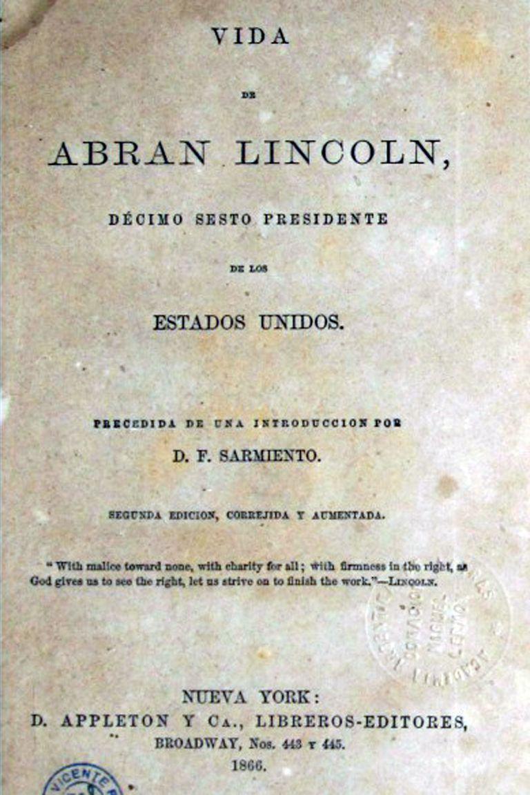 La primera página del libro donde Sarmiento elogia a Máyer (1866)