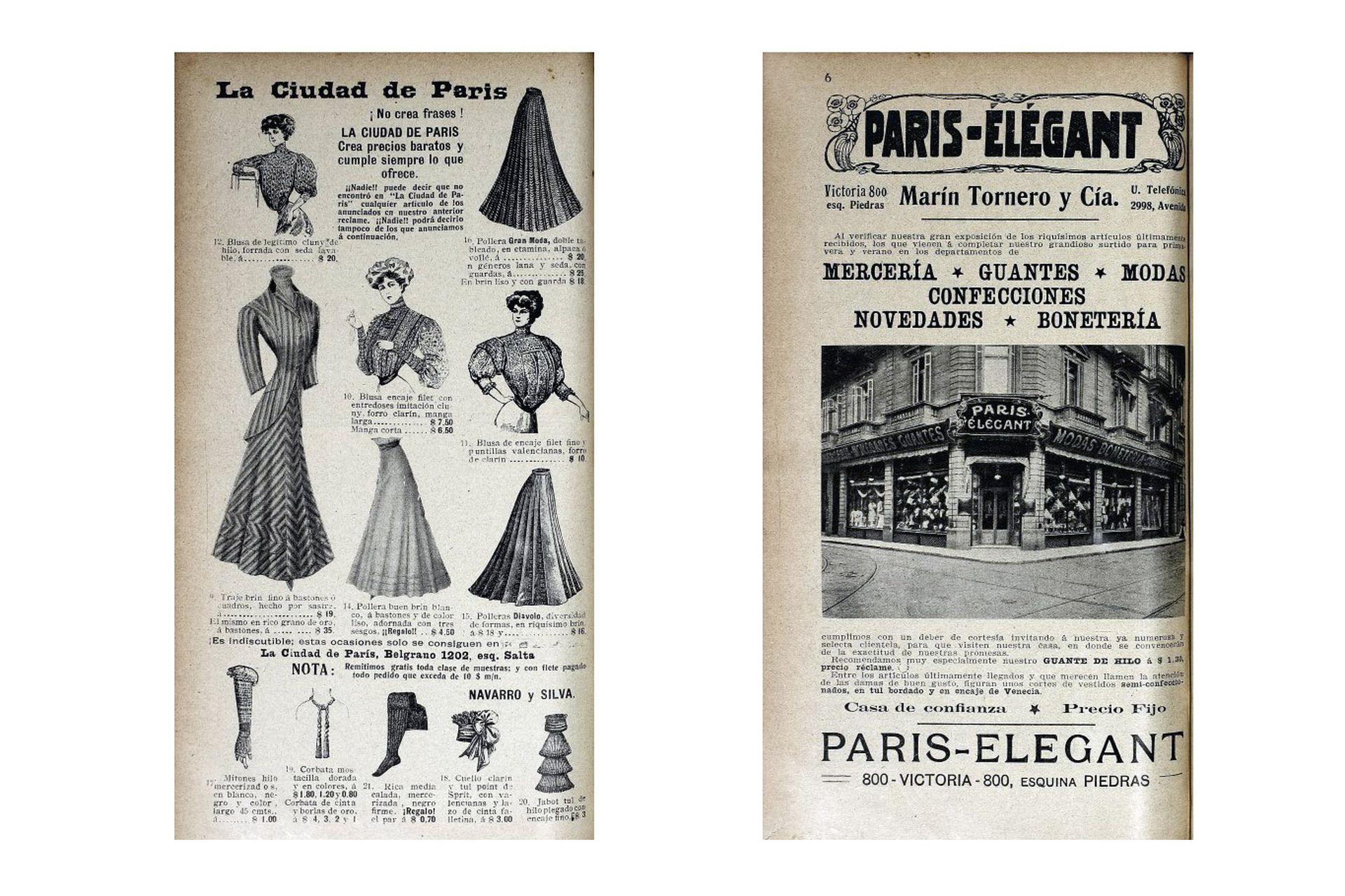 Otros ejemplos de tiendas París: La Ciudad de París y París Élégant.
