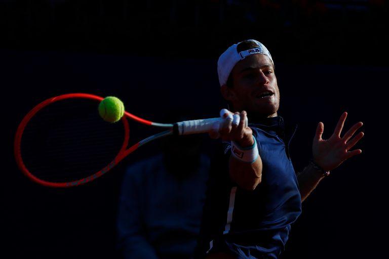 Diego Schwartzman durante su partido con Pablo Careño Busta por los cuartos de final del Torneo de Godo