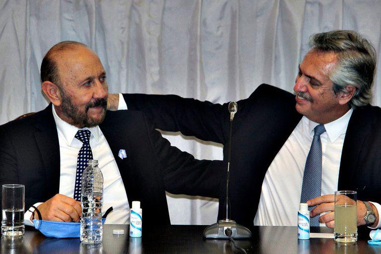 El gobernador Gildo Insfrán y el presidente Alberto Fernández