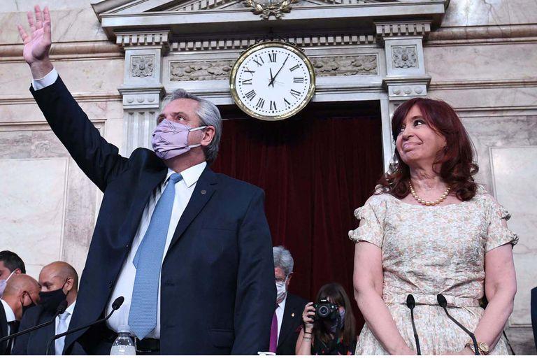 El presidente Alberto Fernández en la apertura de sesiones en el Congreso. Allí confirmó el envío de una ley para la agroindustria