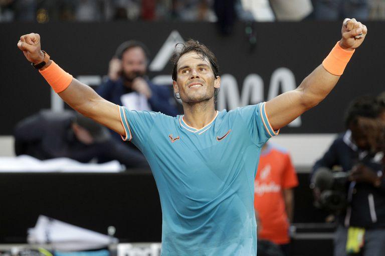 Rafael Nadal celebró su primer título de 2019