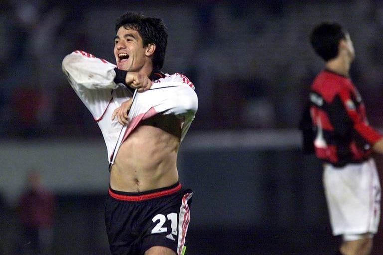 El festejo de Ortega luego del 4-3 ante Flamengo