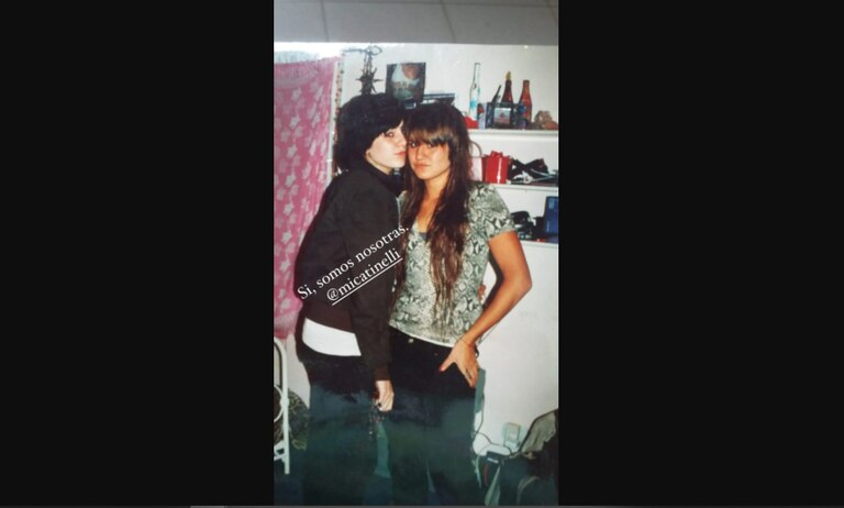 Cande Tinelli subió una foto de su pasado flogger, en la que también se encuentra Mica.