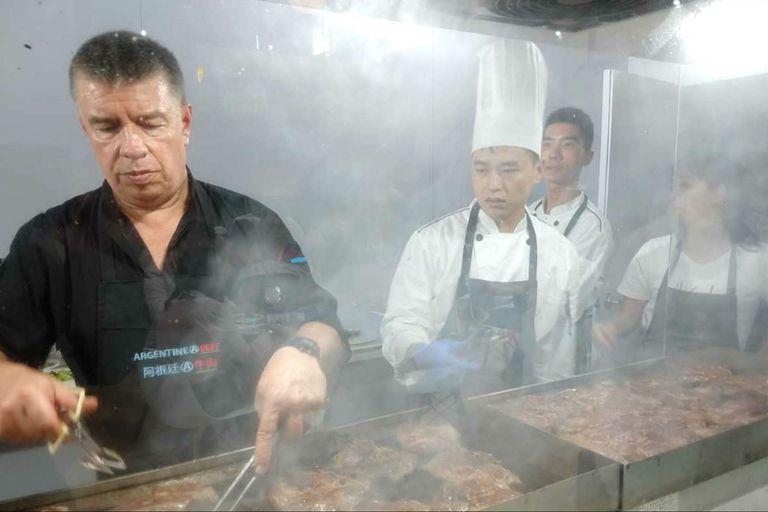 El restaurante argentino en el pabellón argentino en la SIAL de Shanghái