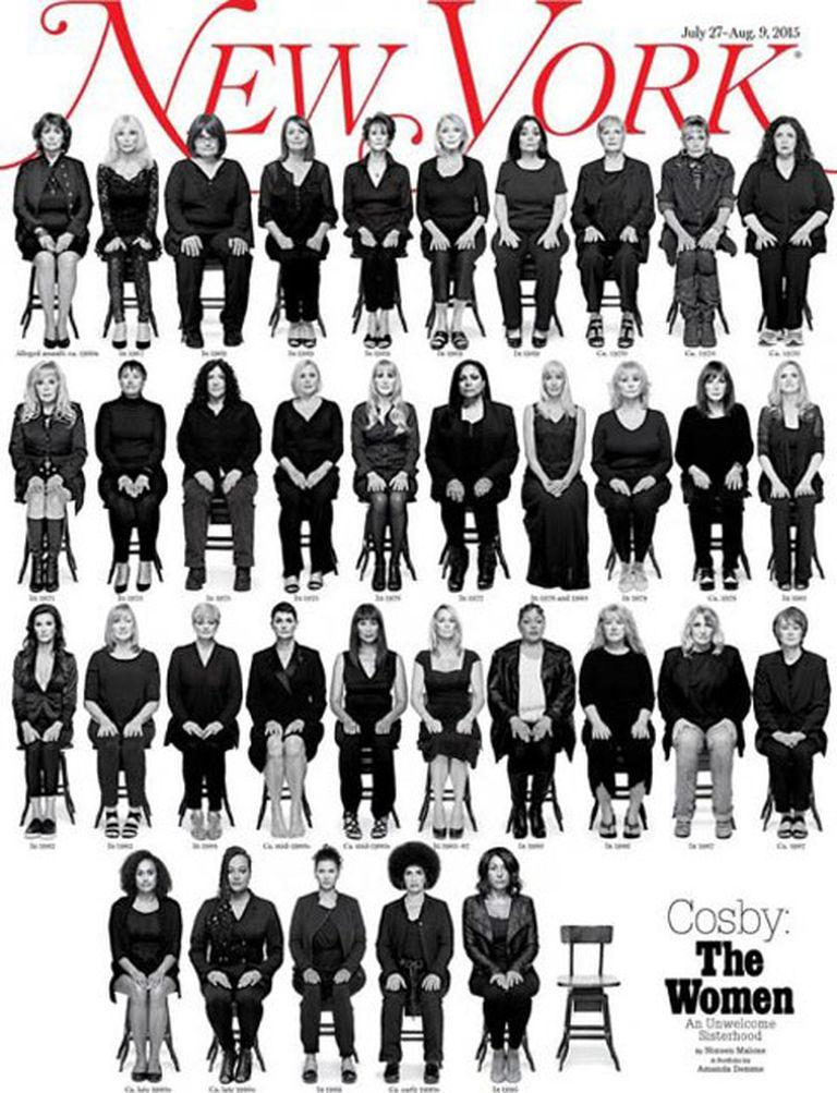 Así es la tapa de la revista en la que 35 mujeres cuentan cómo fueron abusadas por Bill Cosby