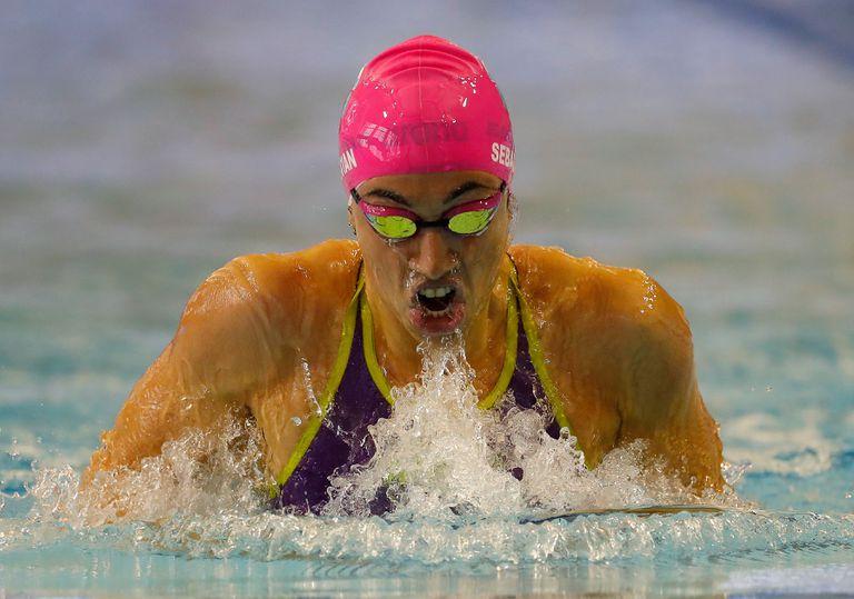 Julia Sebastián finalizó séptima en los 100 m pecho y volverá a competir el próximo miércoles en los 200 m del mismo estilo