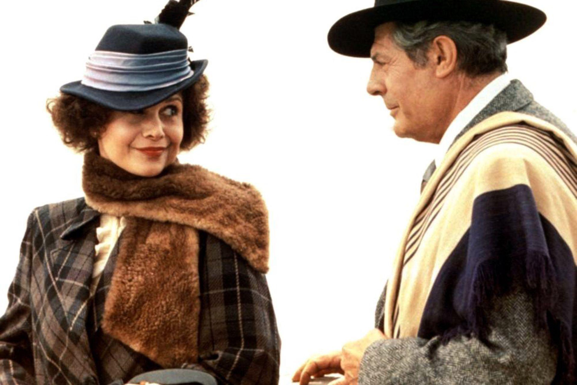 Luisina Brando junto a Marcello Mastroianni, en De eso no se habla