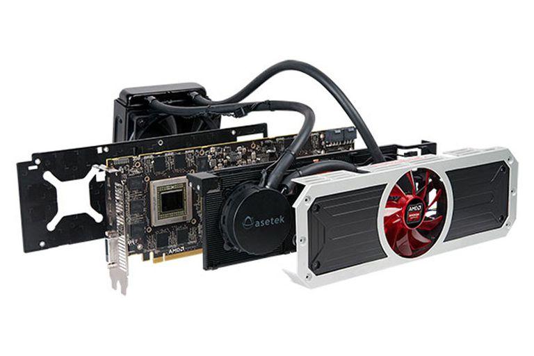 La AMD Radeon R9 295X2 cuenta con un sistema cerrado de refrigeración líquida que se complementa con los tradicionales ventiladores