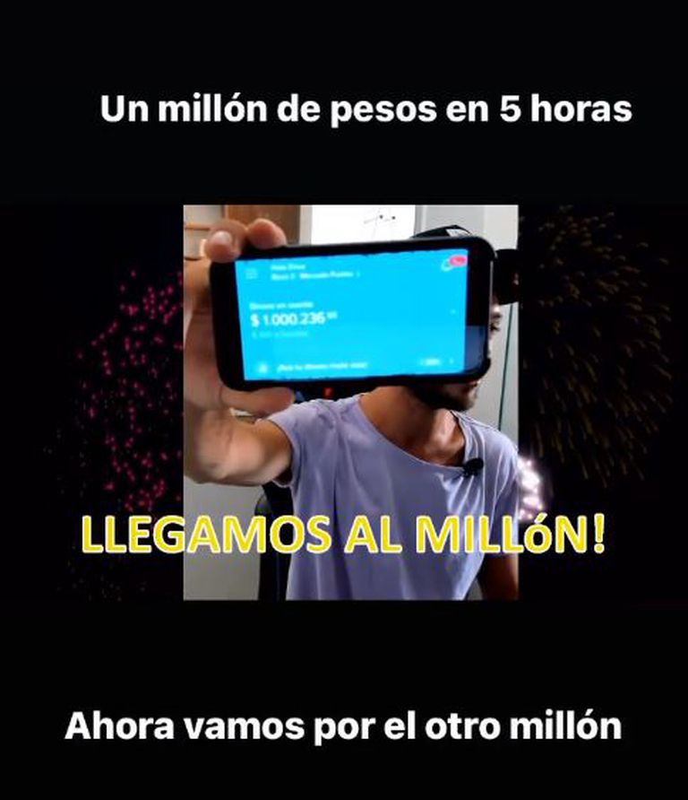 La campaña solidaria que organizó Santi Maratea en Instagram juntó un millón de pesos en cinco horas