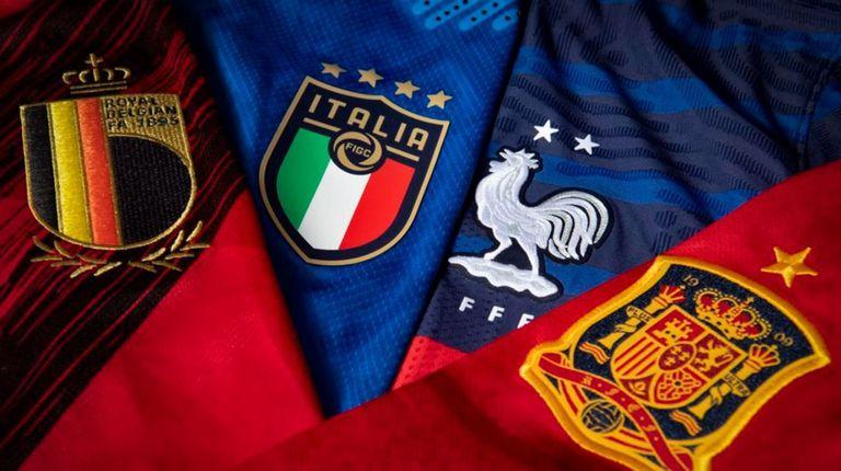 Preciosas camisetas, bonito fútbol: Bélgica, Italia, Francia y España presuponen grandes partidos en la definición de la Liga de Naciones de Europa.