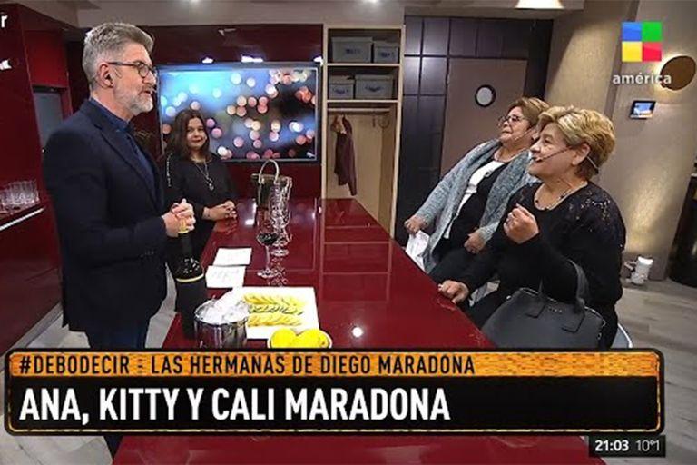 Enojos y acusaciones cruzadas tras la entrevista de Novaresio a las hermanas de Maradona
