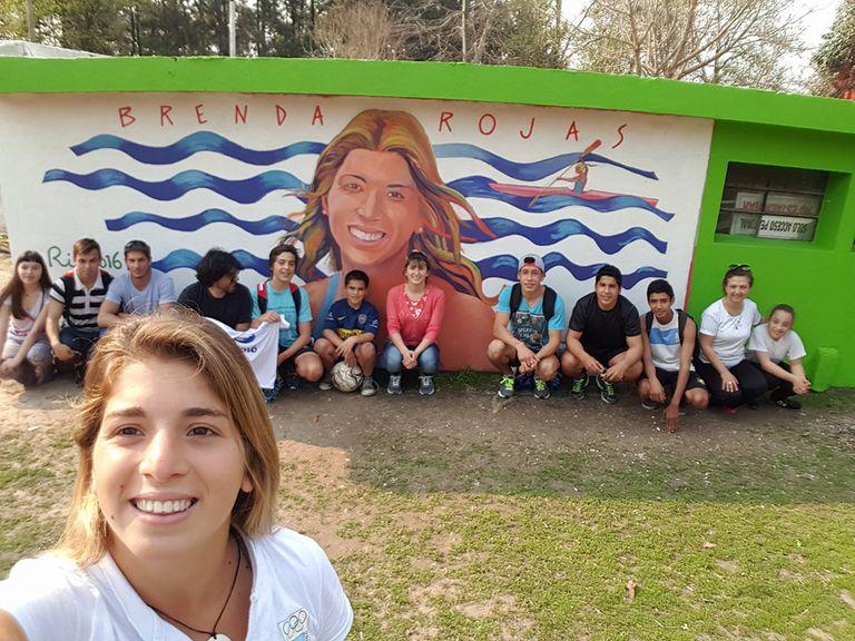 El mural para Brenda Rojas en su ciudad natal, San Pedro