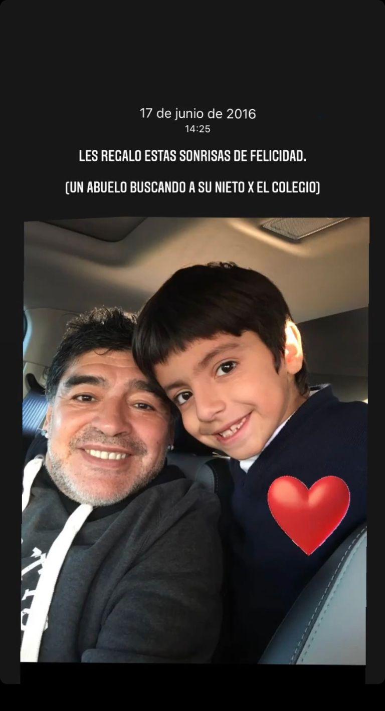El recuerdo de abuelo y nieto que Giannina compartió de su papá con su hijo. Crédito: Instagram