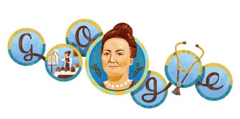 Google dedica su doodle a Cecilia Grierson, la primera médica argentina