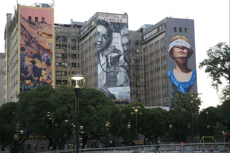 Atentado a la AMIA: Cómo son los murales pintados en el Hospital de Clínicas