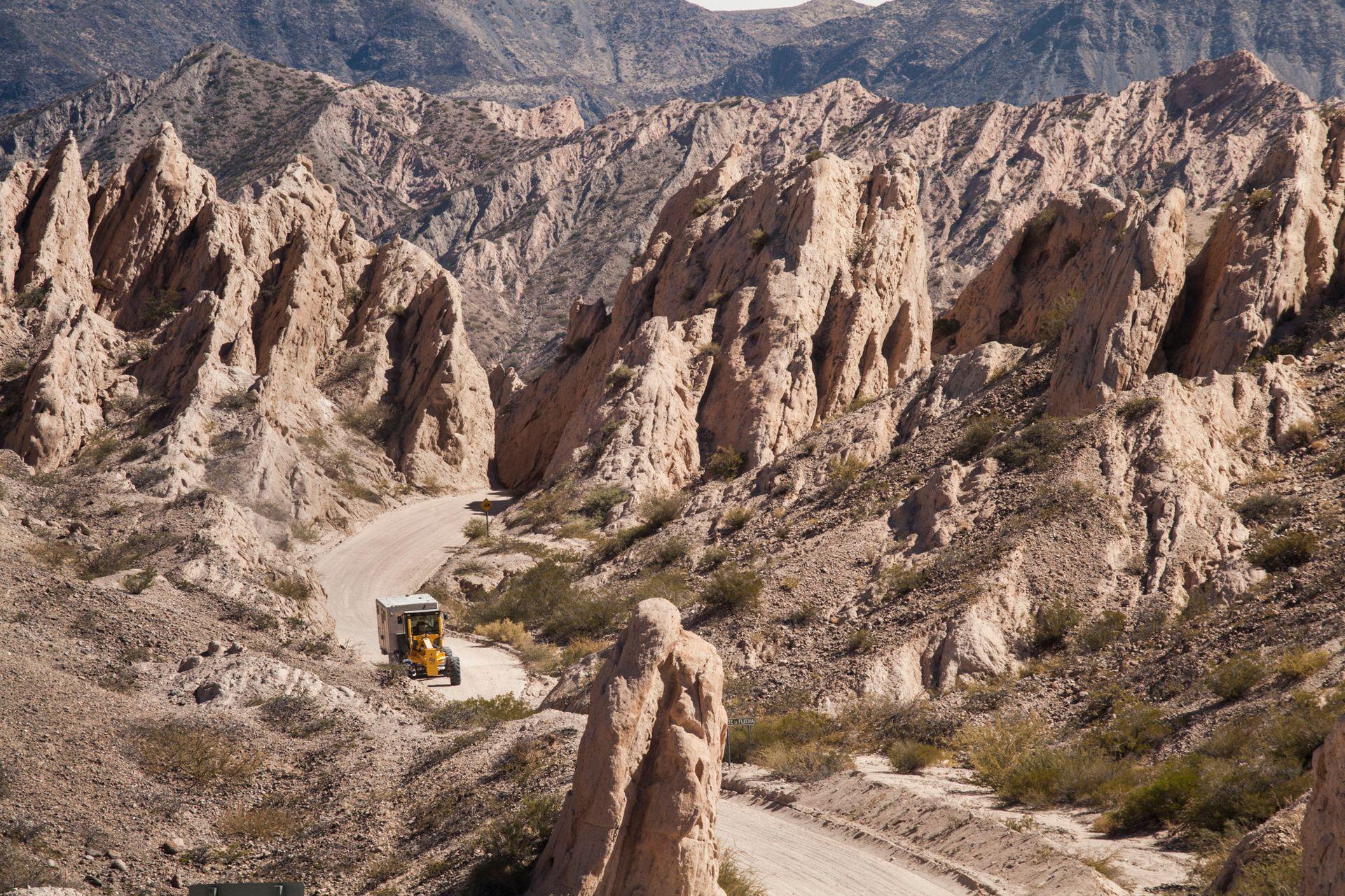 Quebrada de las Flechas, uno de los paisajes más conocidos de los Valles Calchaquíes de Salta, en las afueras de Angastaco.
