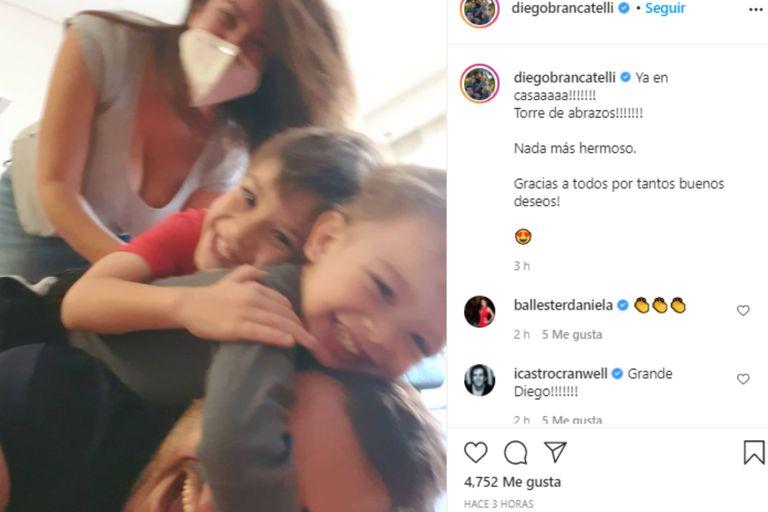 A través de su Instagram, el periodista mostró el reencuentro con su familia