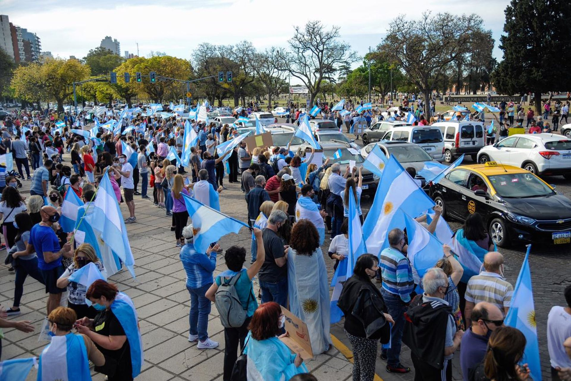 La movilización en el centro de Rosario